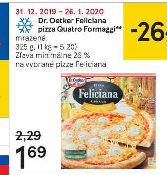 Dr. Oetker Feliciana pizza Quatro Formaggi, 325 g