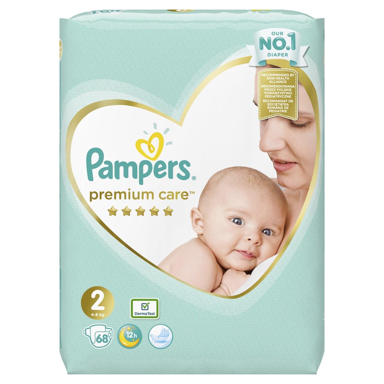 Pampers premium care S2 detské plienky 1x68 ks