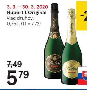 Hubert L'Original, 0,75 l