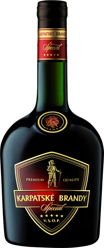Karpatské Brandy Špeciál 40% 0,70 L bez kartóniku