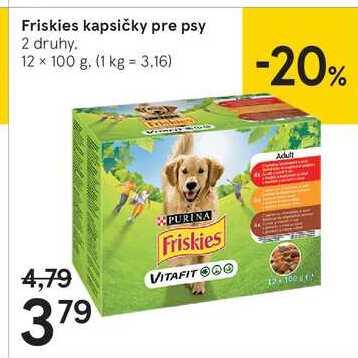 Friskies kapsičky pre psy, 12 x 100 g