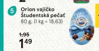 Orion vajíčko Študentská pečať, 80 g