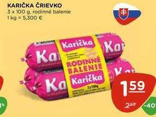 KARIČKA ČRIEVKO 3 x 100 g