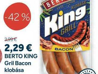 BERTO KING Gril Bacon klobása 300 g