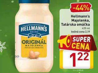 Hellmann's Majolenka,  Tatarská omáčka 420 ml