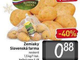 Zemiaky Slovenská farma 1,5 kg