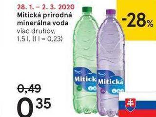 Mitická prírodná minerálna voda, 1,5 l