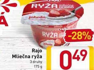Rajo Mliečna ryža  175 g