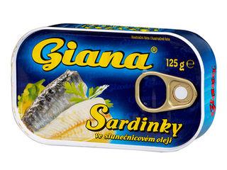 Giana Sardinky 125 g