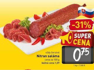 Nitran saláma 100 g