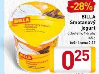 BILLA Smotanový jogur 145 g