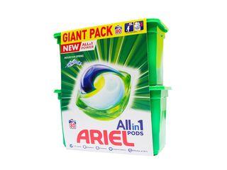 Ariel All in 1 Mountain Spring gélové kapsuly 80 praní 1x1 ks