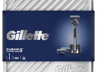 Gillette Fusion5 Proglide holiaci strojček + 3x náhr. hlavice + stojan + plechová dóza