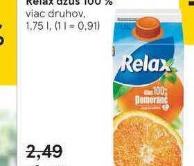 Relax džús 100 %, 1,75 l
