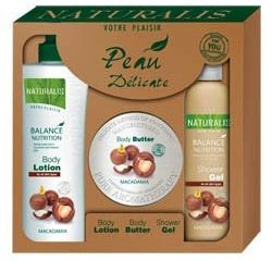 Naturalis Body Care Macadamia telové mlieko 500ml + maslo 300g + spr.gél 400ml