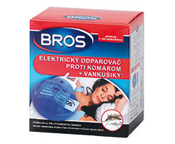 Obrázok Bros elektrický odparovač + náplň proti komárom 10ks