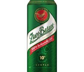 Zlatý Bažant 10% svetlé výčapné pivo 500 ml plechovka