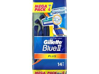 Gillette Blue II Plus jednorázový holiaci strojček pánsky 10+4 ks