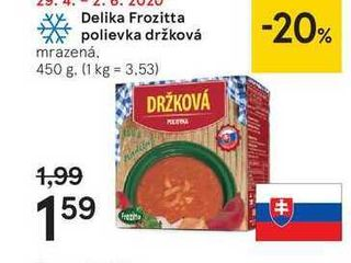 Obrázok Delika Frozitta polievka držková, 450 g
