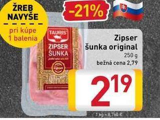 Zipser šunka original 250 g