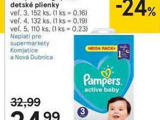 Pampers Mega pack detské plienky