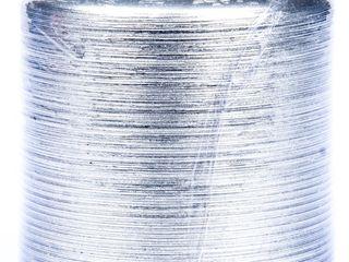 Sviečka Kontury metal strieborná 7x7cm KRAB 1ks