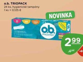 o.b. TRIOPACK 24 ks