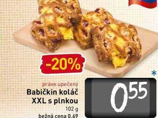 Babičkin koláč XXL s plnkou 102 g
