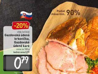 Obrázok  Gazdovská údená krkovička, Gazdovské údené karé  100 g