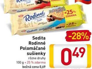 Sedita Rodinné Polomáčané sušienky 100 g