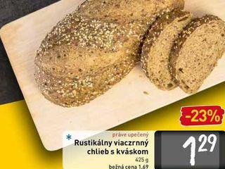 Obrázok  Rustikálny viaczrnný chlieb s kváskom 425 g