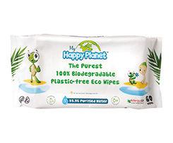 Obrázok Happy Planet Eco vlhčené obrúsky 100% rozložiteľné 60ks