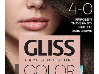 Schwarzkopf Gliss Color farba na vlasy 4-0 prirodzená tmavohnedá 1x1 ks
