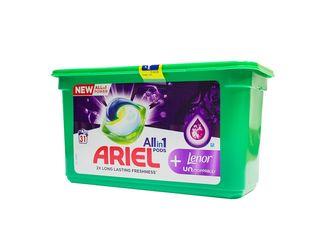 Ariel All in 1 Lenor Unstoppables gélové kapsuly 1x31 ks