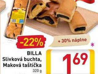 Obrázok  BILLA Slivková buchta, Maková taštička  320 g