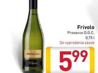 Obrázok Frivolo Prosecco D.O.C.  0,75 l