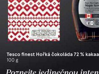 Tesco finest Hořká čokoláda 72% kakaa, 100 g