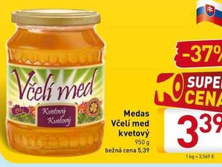 Obrázok Včelí med Medas 950 g