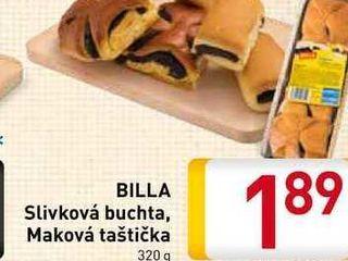 BILLA Slivková buchta, Maková taštička   320 g