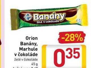 Orion Banány, Marhule v čokoláde  45 g