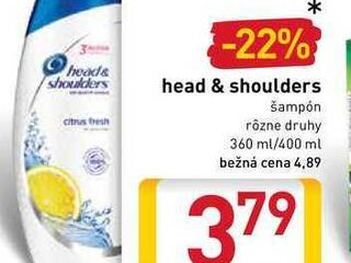 head & shoulders 360-400 ml
