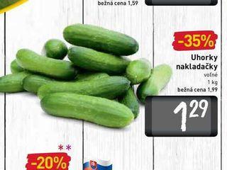 Uhorky nakladačky  1 kg