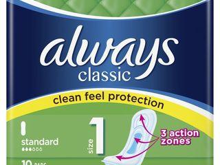 Obrázok Always classic standard dámske vložky 1x10 ks