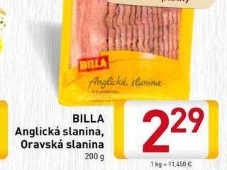 Obrázok   BILLA Anglická slanina  200 g