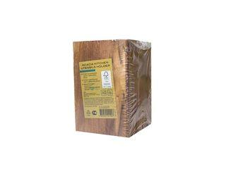 Box na kuchynský riad z agátového dreva Akácia 10x15cm 1ks