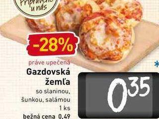 Gazdovská žeml'a  1 ks