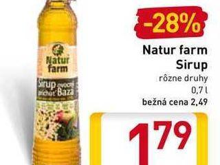 Natur farm Sirup 0,7 l